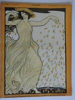Beautiful Woman Jugend Magazine 1899 Issue 16 Jugenstil Art Nouveau graphics