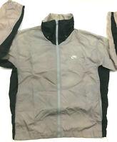 Vtg 80s Nike Mens Windbreaker Jacket Color Block Swoosh Logo Nylon Blue Tag Sz M
