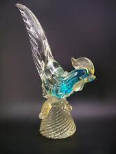Italian Mid-Century 1950s Murano Glass Pheasant or Bird Figurine