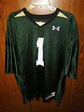 NEW UNDER ARMOUR UNIVERSITY OF SOUTH FLORIDA BULLS GREEN FOOTBALL JERSEY LARGE !