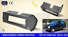 Mascherina Autoradio Fiat Panda Young da 1986 a 2003 per stereo audio auto radio