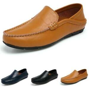 Mens Faux Leather Driving Moccasins Shoes Pumps Slip on Loafers Soft Comfy New D