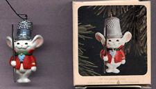 HALLMARK 1982 Christmas THIMBLE MOUSE Ornament w/ BOX