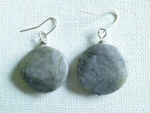 Grey Serpentine earrings