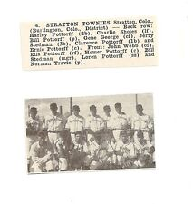 Stratton Townies Colorado 1950 Baseball Team Picture