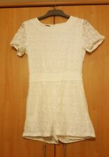 White Lace Playsuit Medium Party Christmas