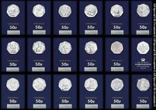 2016 2017 2018 2019 2020 BU 50p Fifty Pence Coins – Snowman Kew Gardens Beatrix