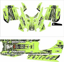 POLARIS RUSH PRO RMK  ASSAULT 144 155 163 hood wrap kit DECAL tunnel lime camo