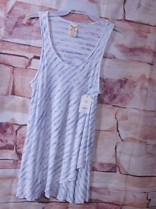 WOMEN'S STRIPED PULL OVER TULIP SWING TANK TOP BY FADED GLORY / SIZE S (4-6)