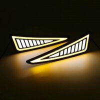 2pcs Universal Car DRL LED Daytime Running Light Driving Turn Signal Lights Lamp