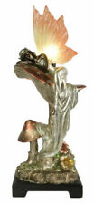 45cm Table Lamp Art Nouveau/deco Polystone Bronze Fairy Resin Wing Shade Bulb