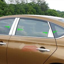 S.Steel Window B Posts Chrome Trim For Nissan Sentra 2013 2014 2015 2016 2017
