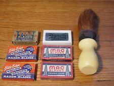 Lot Safety Razor Blades Double Edge Wilkinson Mac Hollow Ground Diamond Brush
