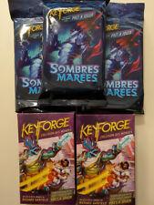 Keyforge 3 deck Sombres marrées (Fr) + 2 deck Collision des mondes (Fr)