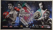 Nonito The Filipino Flash Donaire vs Vazquez Autographed Poster 2012 PSA/DNA COA