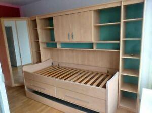 Schrankbett Länge: 3,80 m Bett + Lattenrost