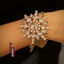 Bracelet Fleur Neige Perle Retro Moderne Original Soirée Mariage Cadeau CT3
