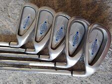 Used Callaway X-14 Steelhead iron set, 5--9 Steel Shafts RH