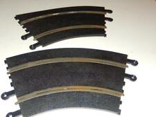 """SCALEXTRIC -2- CURVED TRACK SECTIONS #00615- APPROX 10"""" 1/32ND SCALE -EXC- L202"""
