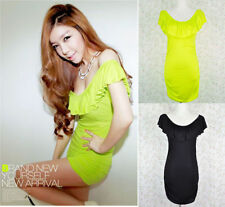 Stretch, Bodycon Machine Washable Casual Solid Dresses for Women