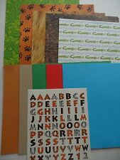 Zoo Theme Pack 12x12 Set of 19 Print & Solid Scrapbook Papers + Letters Current