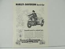 Vintage 1951 Harley-Davidson Servi-Car Police Motorcycle Brochures L4976