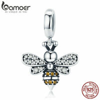 Bamoer European S925 Sterling Silver charms Story Of The Bee Dangle For Bracelet