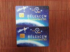 Set 2 Phonecards Accescard 93 Belgium New Very Rare