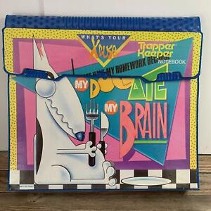 Superb Vintage 1991 Mead Trapper Keeper Notebook My Dog Ate My Brain Xcuse 29096
