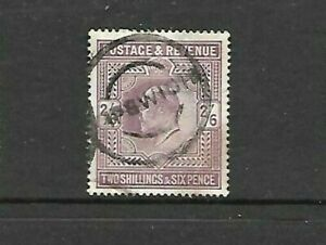 GB-Edward VII- 2 Shilling and 6 pence -2/6 - Purple - Fine Used
