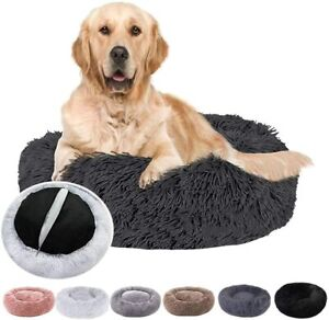 Donut Dog Bed, Calming Dog Bed, Pet Bed, Marshmallow Cat Bed Fluffy Comfy Washab