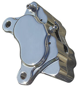 Ultima Polished Billet 4-Piston Brake Caliper Front Rear Harley Custom Chopper