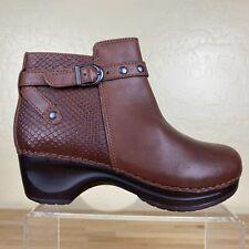 Sanita Dakota Ankle Boots Womens Size 36 / 5 Zipper Brown Leather