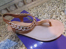 NEW STEVE MADDEN MADDEN GIRL CLASSIC COGNAC STRAPPY SANDALS WOMENS 6 FREE SHIP