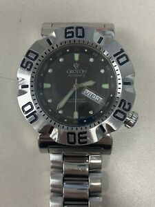 Croton Automatic Watch Grey Dial, Band broken, Not running, Sold as is #604