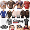 Sexy Men Leather Muscle Tank Top T-Shirt Mesh Undershirt Clubwear Vest Pullovers