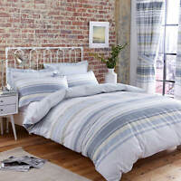 Charlotte Thomas Nevada Stripe Duck Egg Blue Duvet Cover Pillowcase Set Curtains