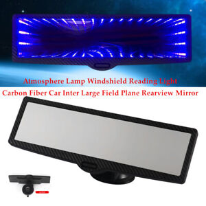 Car Windshield Large Field Plane Rearview Mirror Carbon Fiber Atmosphere Light