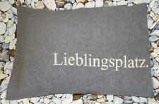 David Fussenegger Kissenhülle Silvretta Lieblingsplatz grau