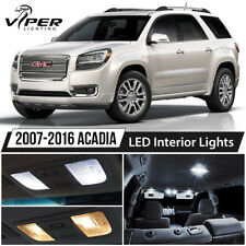 2007-2016 GMC Acadia White LED Lights Interior Package Kit