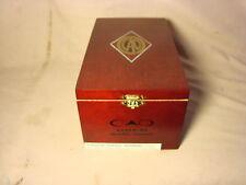 CAO GOLD DOUBLE CORONA WOOD CIGAR BOX