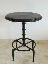 Industrial Vintage Retro Bar Table Black Distressed Dining