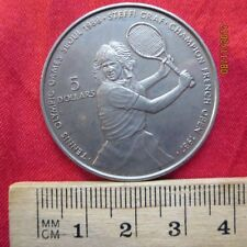 Niue - 5 Dollar 1987 - Steffi Count - Olympic Games Seoul 1988 - French Open V