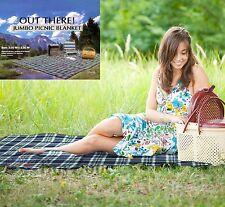 Jumbo picnic blanket rug pet travel camping beach mat waterproof 3m x 2.2m