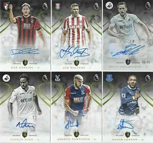 2016 TOPPS Premier Gold Everton Crystal Palace Bournemouth Autograph Cards x6