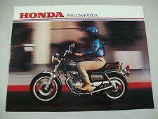 1981 Honda CM400T CM400A CM 400 TWIN OEM Genuine OEM Dealer Sales Brochure NOS!!