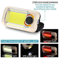 Camping COB LED Work Light Magnetic Flashlight Hiking Hand Lamp USB Rechargeable
