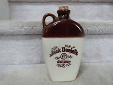 """Jack Daniels No. 7 HTF Flat  Brown & White Advertising Whiskey Jug 9"""""""