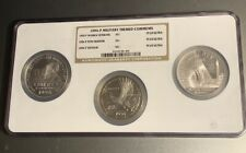 1994 U.S Veterans Commemorative 3 Coin  Silver Dollar Set NGC 3 Coin Holder