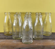 More details for a collection of 9 vintage kitsch 1980's glass milk bottles - wicken's daries
